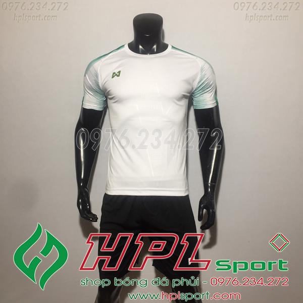 Áo bóng đá ko logo Warix HAT SG  Màu Trắng