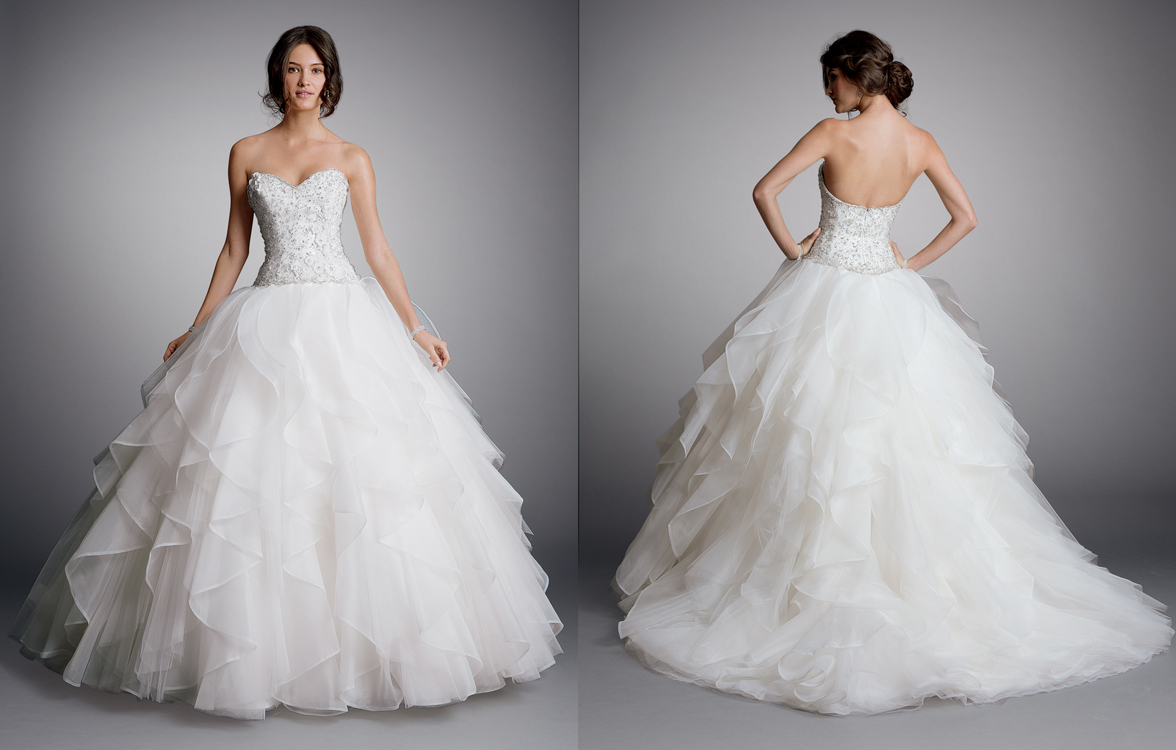 A Line Tulle Simple Wedding Dresses With Beading Off The: Wedding Dresses For Brides On A Budget