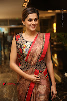 Tapsee Pannu Latest Stills in Red Silk Saree at Anando hma Pre Release Event .COM 0068.JPG
