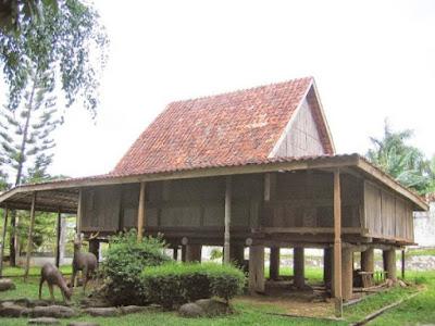 Gambar Desain Rumah Adat Sumatera Selatan
