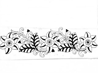 Floral border design patterns/hand embroidery resham work border design/flower border design