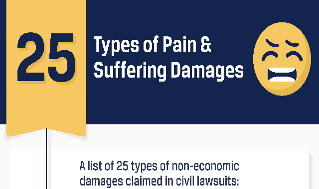 25 Types of Pain & Suffering Damages #infographic