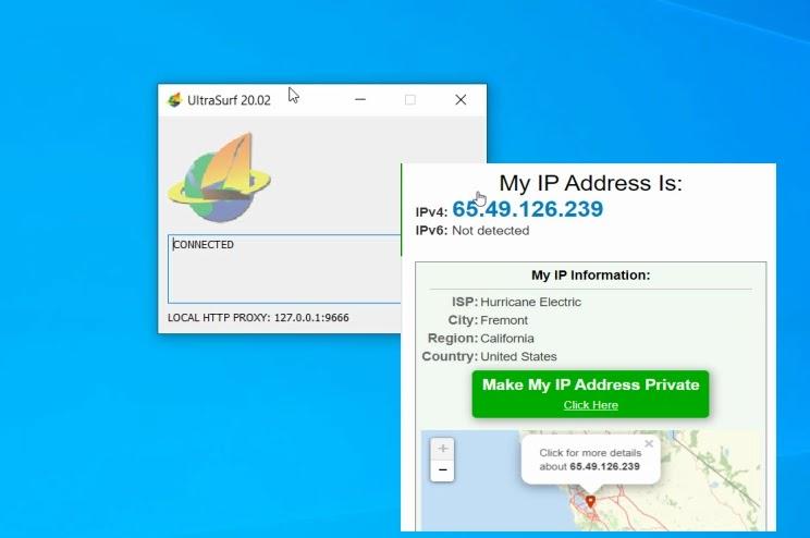 Ultrasurf  : Αποκρύψτε την IP  και κρυπτογραφήστε την επικοινωνία σας.