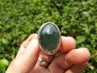 Cincin Batu Giok Jadeite Jade Type A JDT014 No Treatment Origin Burma Memo By DGL