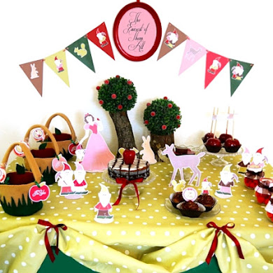 Snow White Inspired Birthday Party Ideas & Printables
