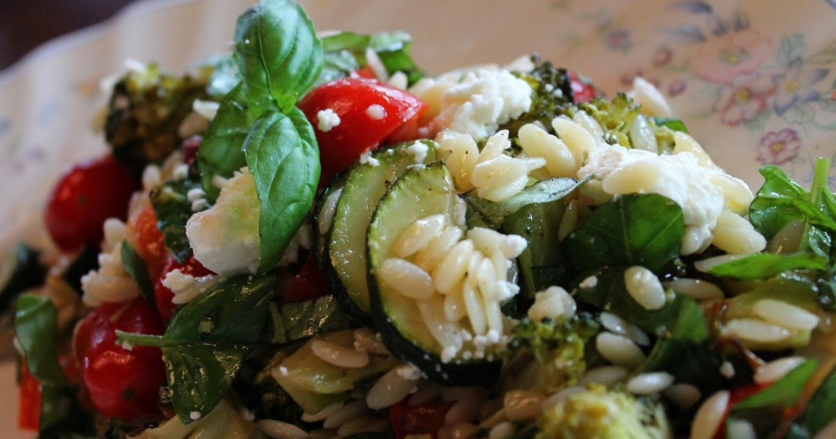 What A Dish!: Orzo & Roasted Veggie Salad