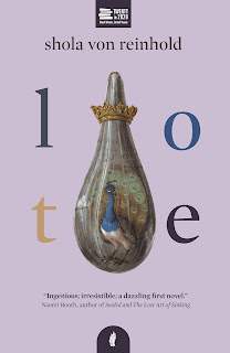 Book cover - pink background with a peacock in a crowned teardrop