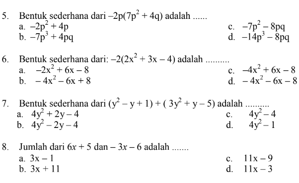 Download Soal dan Kunci Jawab Siap Penilaian Akhir Semester 1 (PAS 1) Mapel Matematika SMP/MTs Kelas 8 (Delapan/VIII) Kurikulum 2013/K-13 Tahun 2019/2020 I pdf