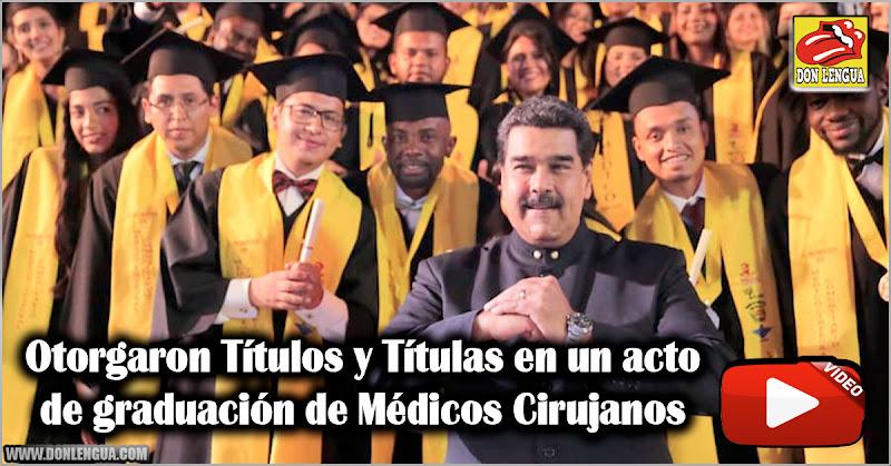 Otorgaron Títulos y Títulas en un acto de graduación de Médicos Cirujanos