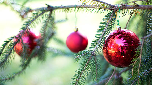Ornaments to test a Christmas tree strength