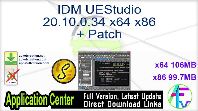 IDM UEStudio 20.10.0.34 x64 x86 + Patch