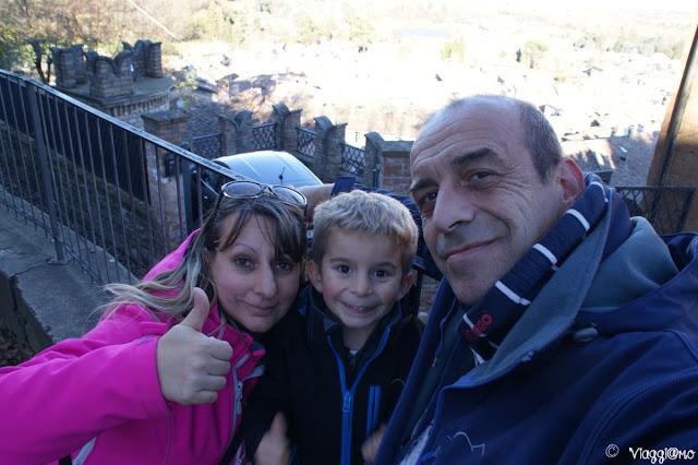 Noi tre di ViaggiamoHg a Castell'Arquato