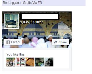 fanpage facebook lebih dari 1 juta follower