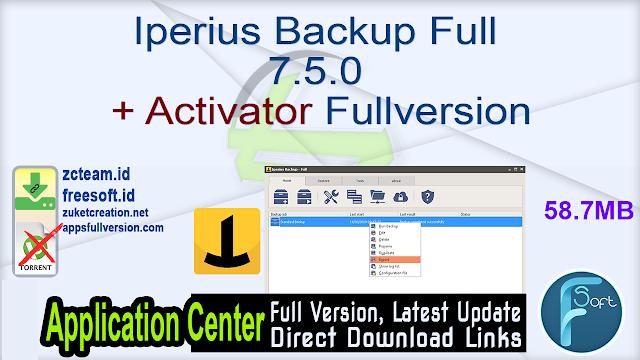 Iperius Backup Full 7.5.0 + Activator Fullversion