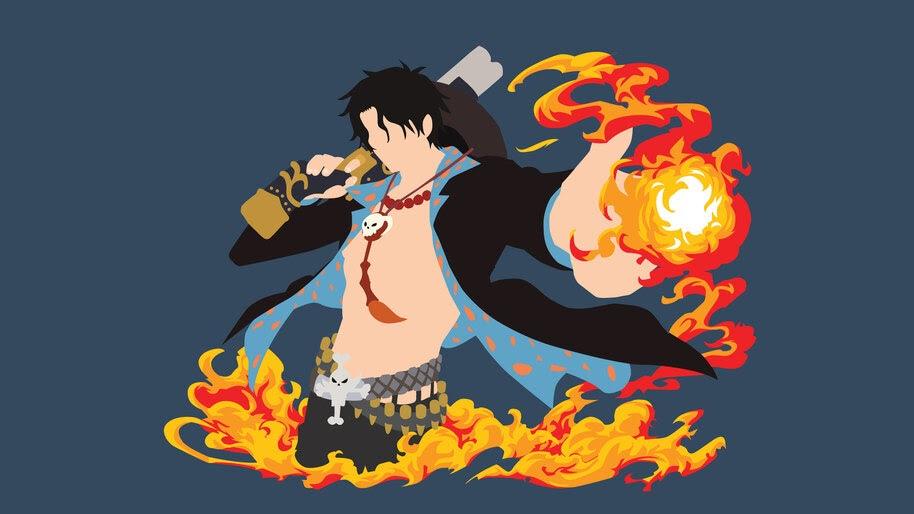 Ace, One Piece, Minimalist, 4K, #6.93 Wallpaper
