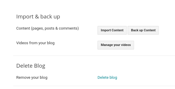 How to backup and restore blogger blog
