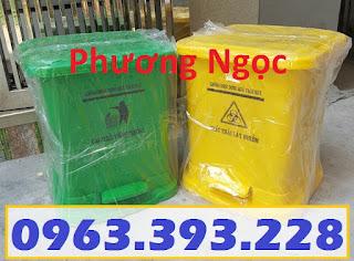 Thùng rác đạp chân y tế, thùng rác y tế nhựa HDPE, thùng rác bệnh viện TRYT6