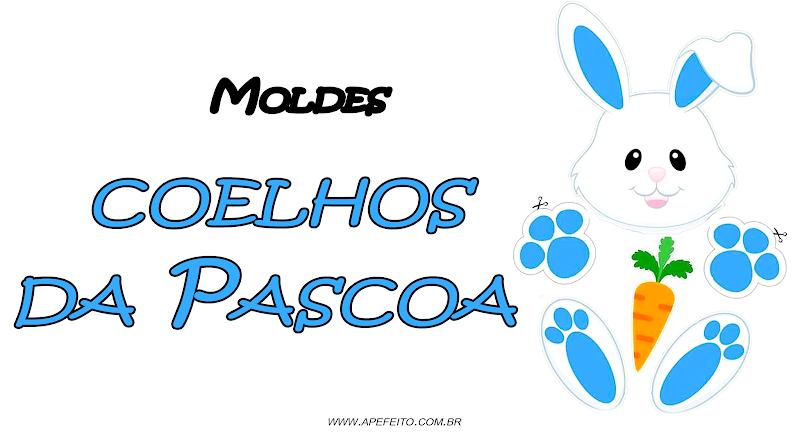 Molde de Coelho Pascoa 2020 - PARA DECORAÇÃO