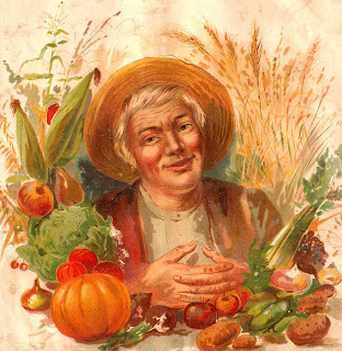 farmer vegetable antique garden image digital download