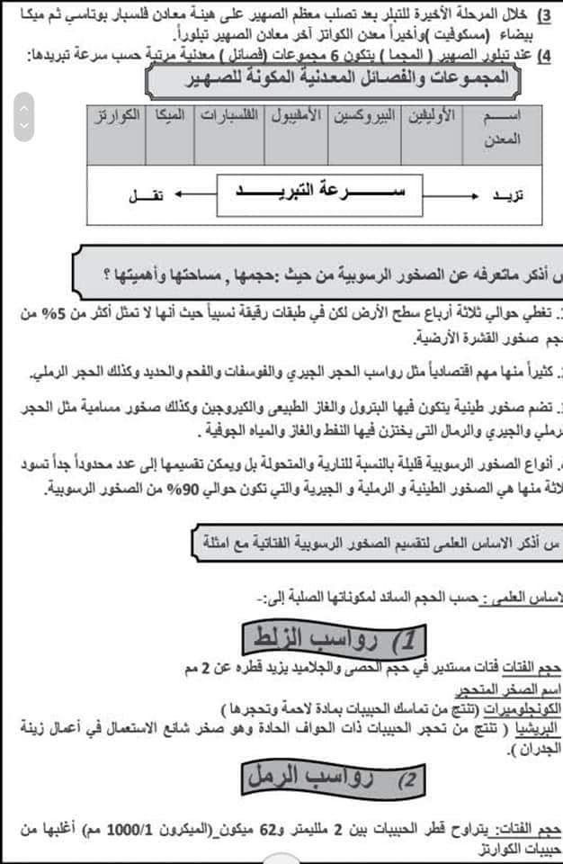المراجعة النهائية فى الجيولوجيا للثانوية العامة ٢٠٢٠ د/ عادل بشير 2