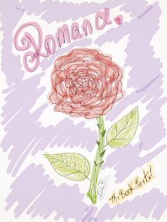 Rose of romance art, sketch, romance, drawing