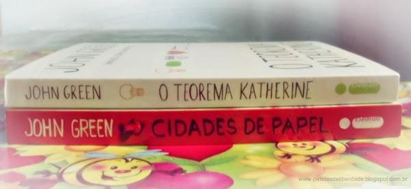 Livros, John Green, O teorema Katherine, Cidades de Papel