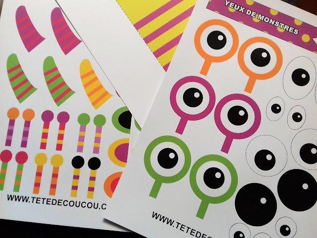 Fabrique ton monstre en papier tête de coucou free printable gratuit à imprimer bricolage enfants