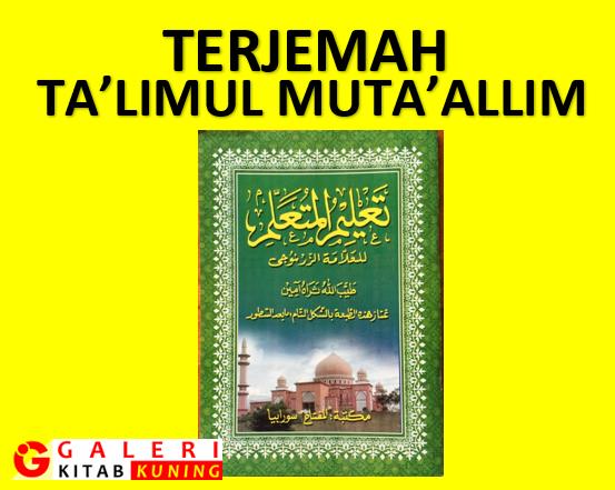 Kitab Ta'lim Muta'allim Karya Syekh Zarnuji