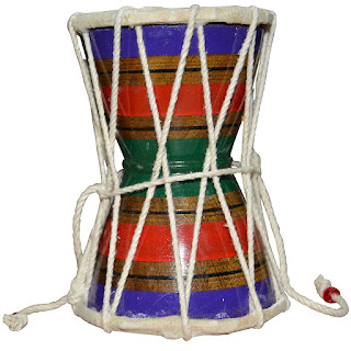 DronaCraft Damroo Shiva Drum Percussion India Musical Instrument