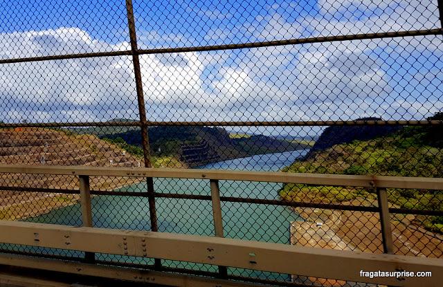 Canal do Panamá visto da Ponte das Américas