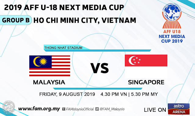 Live Streaming Malaysia vs Singapore (9.8.2019) AFF U18