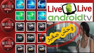 تطبيق Android tv الجديد لمشاهدة القنوات العربية و قنوات نتفلكس و Bein sport