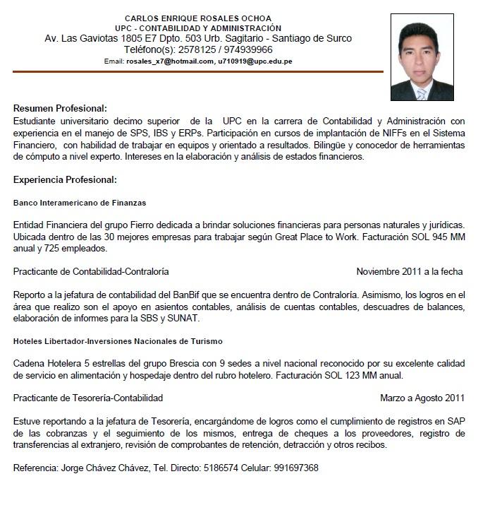 Liderazgo Y Desarrollo Profesional Curriculum Vitae