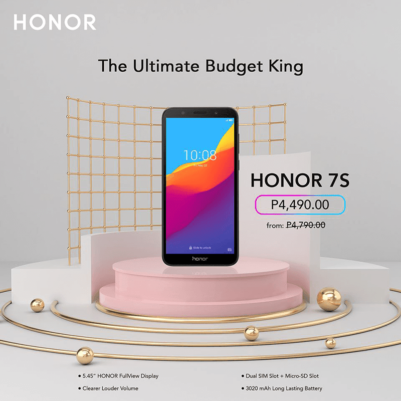 A year after it was first introduced, HONOR dropped the SRP of the HONOR 7S to make it an even more attractive budget phone deal.