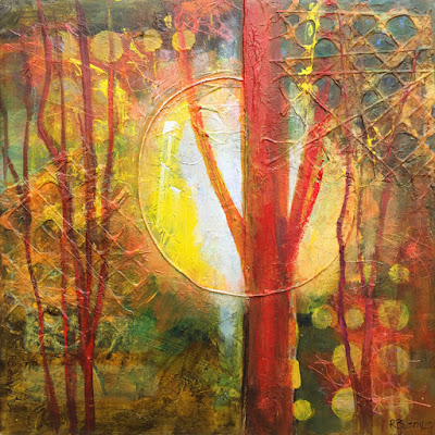 abstract mixed media painting by robie benve