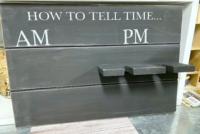 How to Tell Time Pallet Sign for mugs and wine glasses