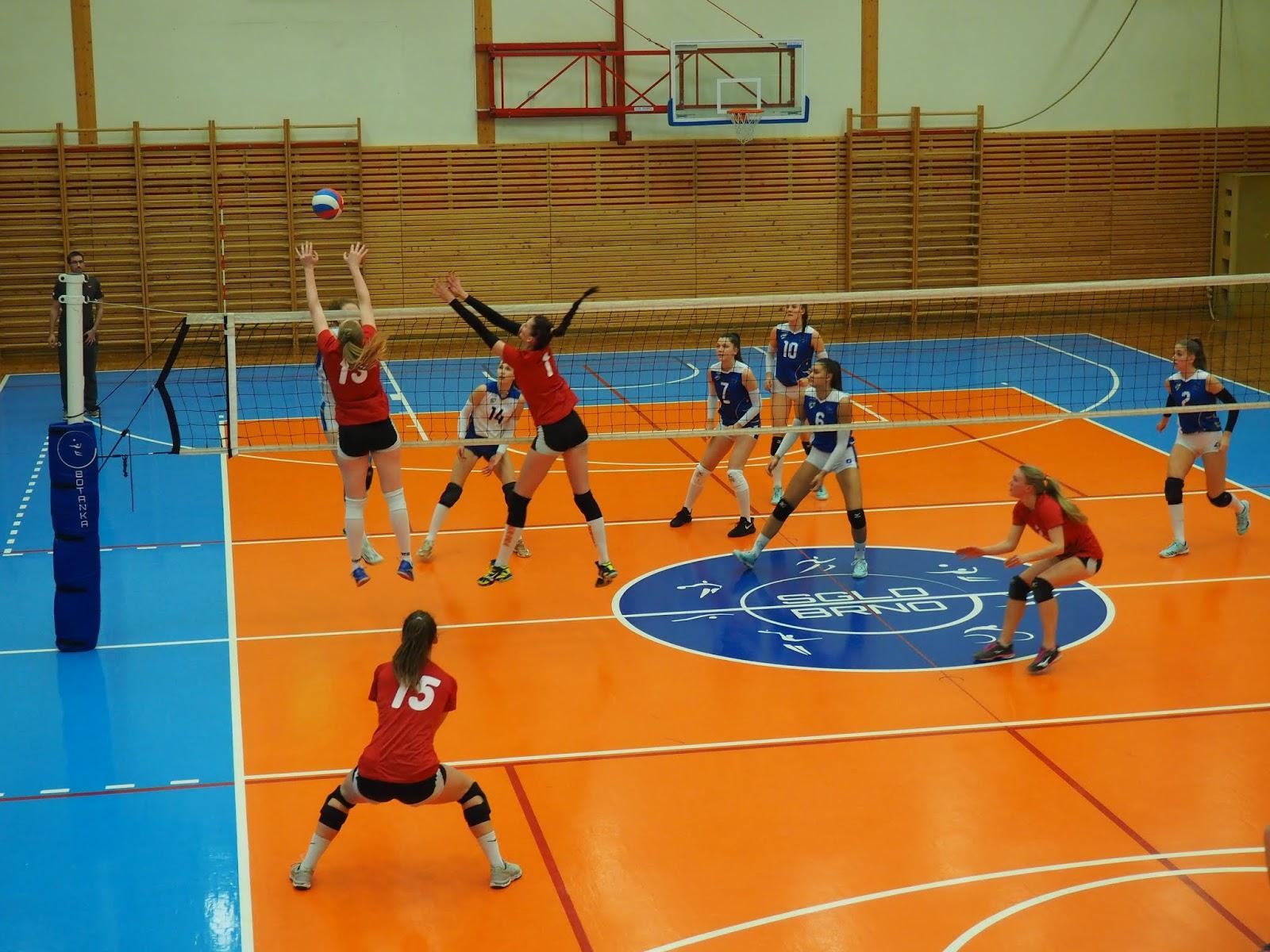 První liga ženského volejbalu, zápas VK Hronov a VK Královo Pole