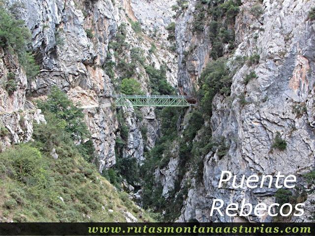 Ruta Caín Terenosa: Puente Rebecos en el Cares