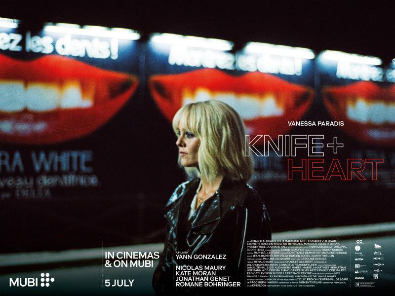 knife + heart vanessa paradis poster