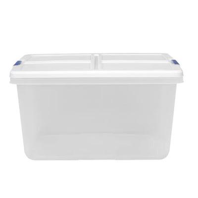 small clear storage bin