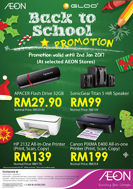 AEON Back to School Discount Promo