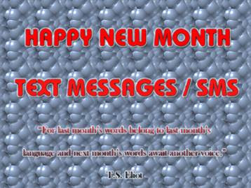Best Collections Of Happy New Month Messages November 2017