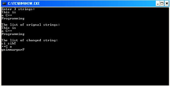 C program to reverse order of words in a string