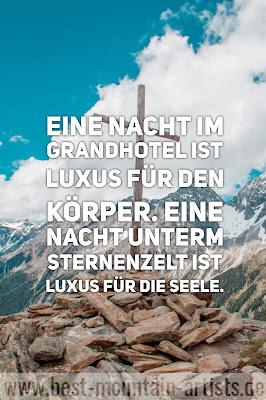 """""""Eine Nacht im Grandhotel ist Luxus für den Körper. Eine Nacht unterm Sternenzelt ist Luxus für die Seele."""", Till Eitel"""