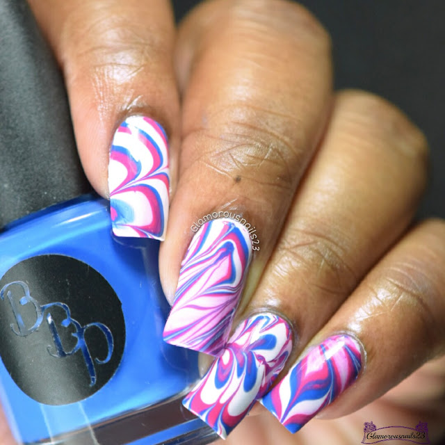 Watermarble Wednesdays: White, Blue & Pink