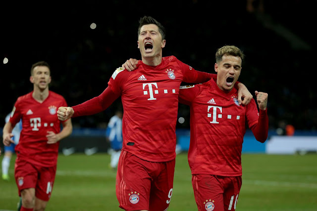 Video Cuplikan Gol: Hertha Berlin 0-4 Bayern Munich (Bundesliga)