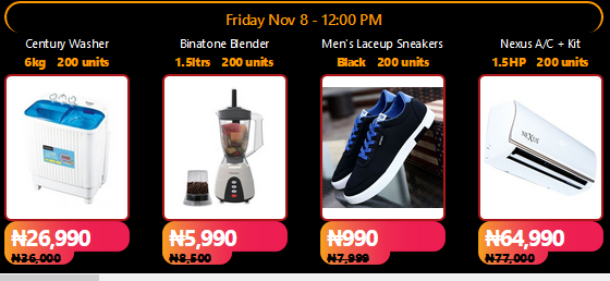 Jumia Black Friday is Live 90% Off Your Favorite items