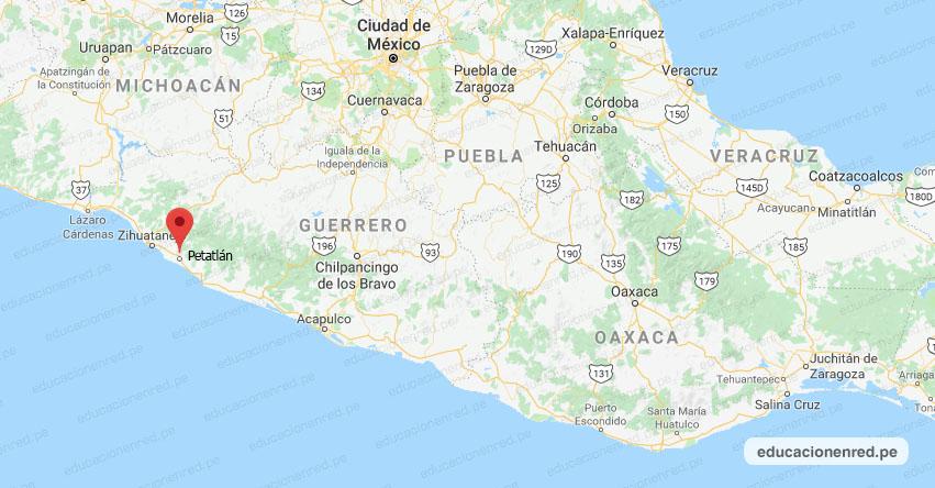 Temblor en México de Magnitud 4.1 (Hoy Viernes 24 Mayo 2019) Sismo - Terremoto - Epicentro - Petatlán - Costa Grande - Guerrero - SSN - www.ssn.unam.mx
