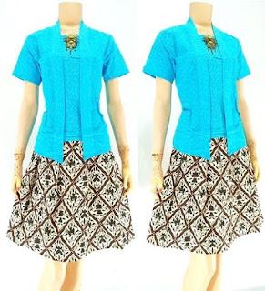 Rok-Blouse-Batik-Thalia motif batik solo biru
