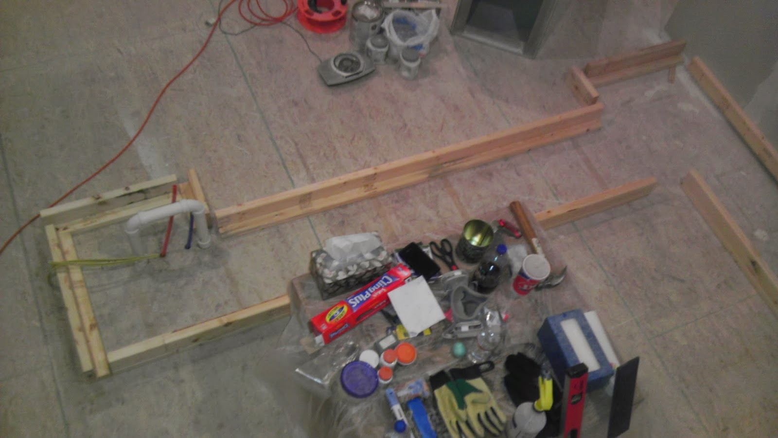 building base frame for ikea cabinets kitchen base cabinets Putting in framing for the kitchen cabinets We are installing Ikea kitchen cabinets but the instructions will tell you if your cabinets are not going